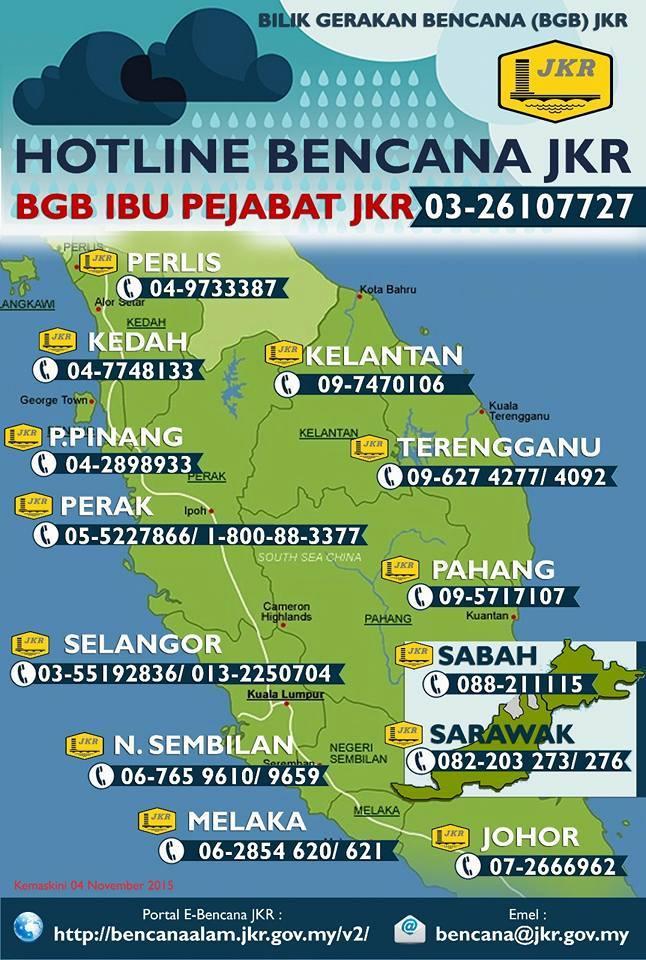 马来西亚工程部紧急联络电话