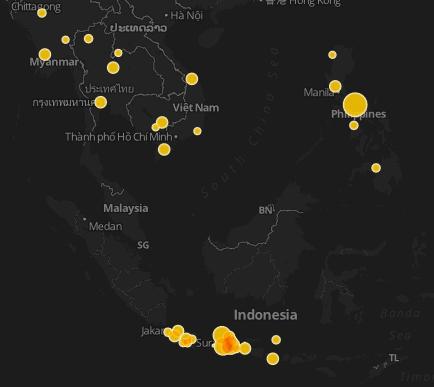meteorite impact map in Malaysia