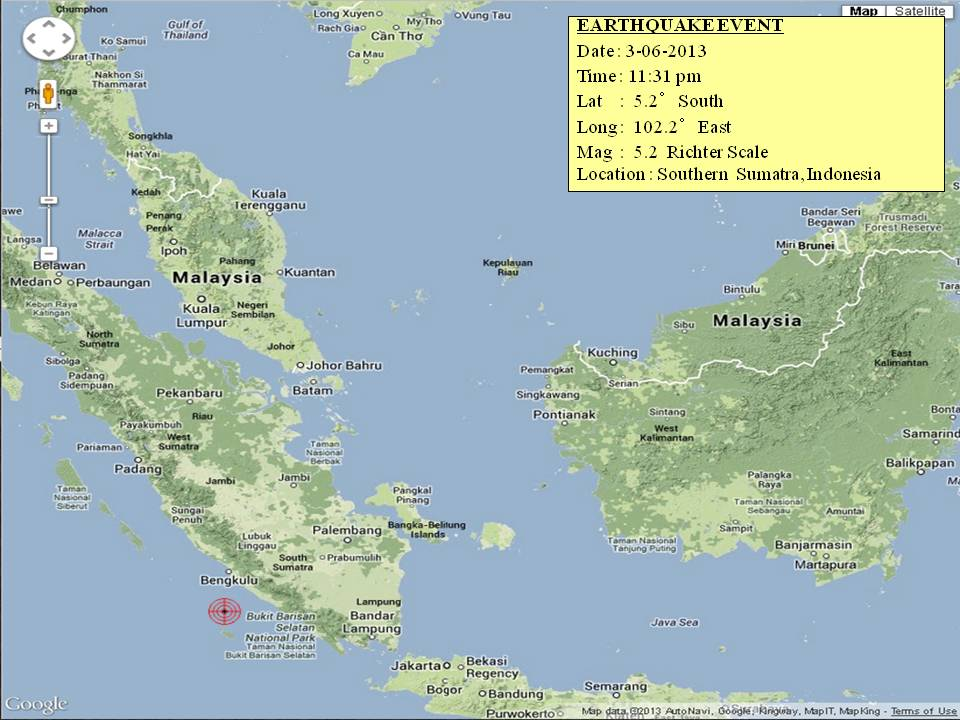 Earthquake at Sumatra
