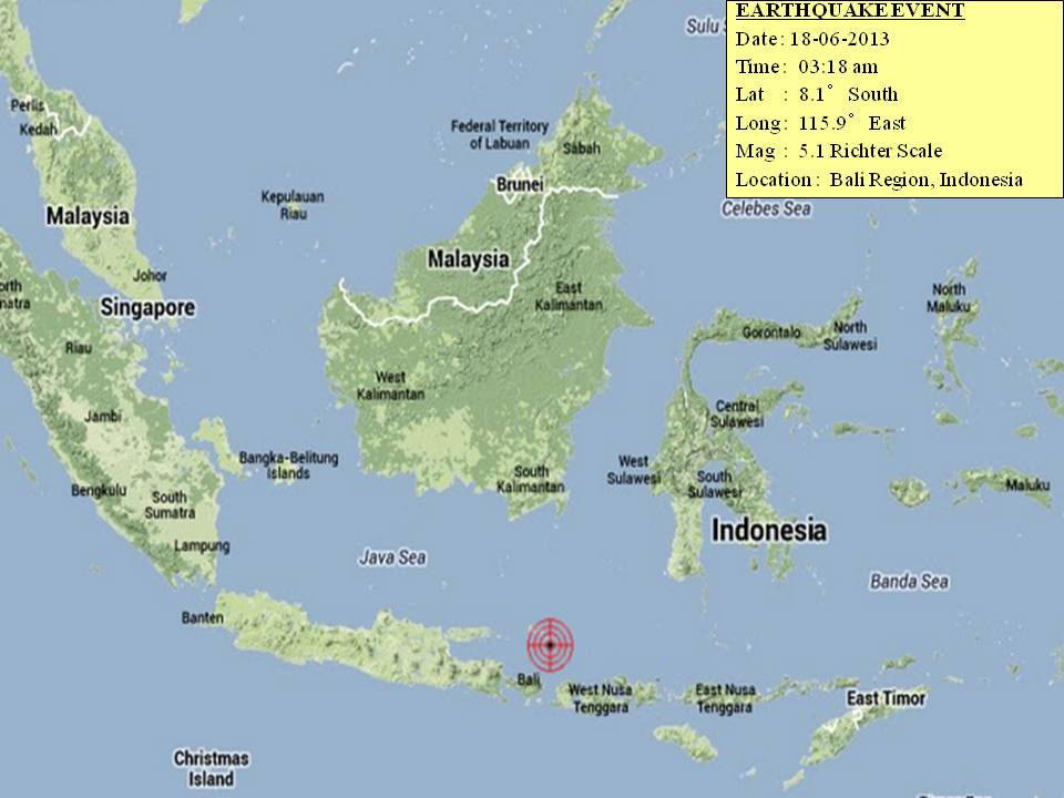 Earthquake in Bali on 18 June 2013 – Marufish World of ...