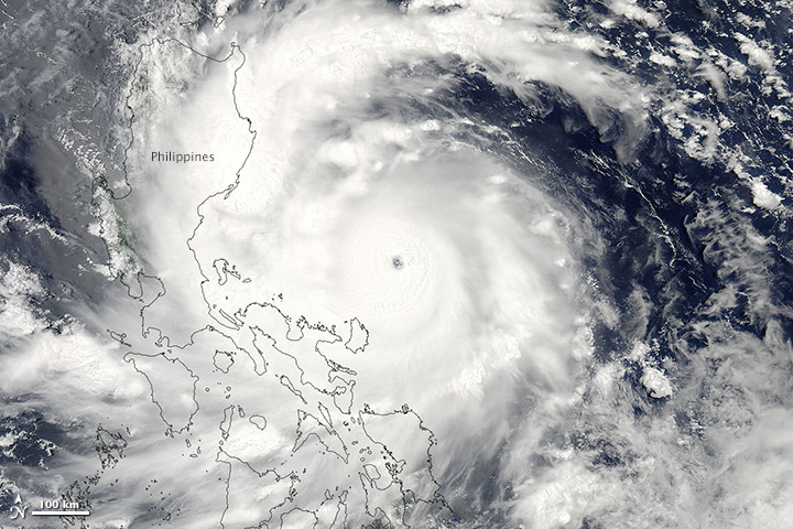 Super typhoon Utar (Satellite Photo from NASA)