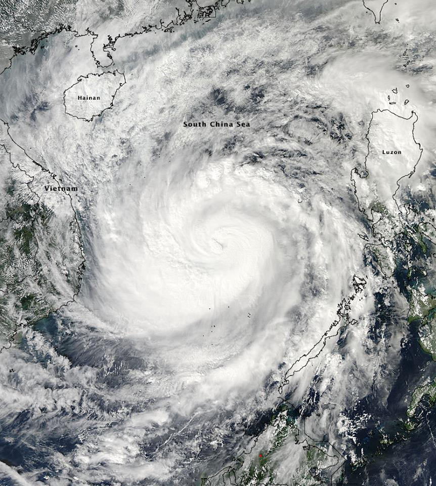 haiyan in South China Sea
