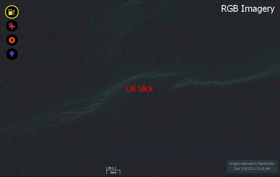 Oil slick detected in Tomnod