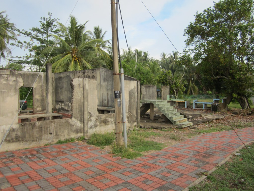 Destroyed kampung houses at Kuala Muda