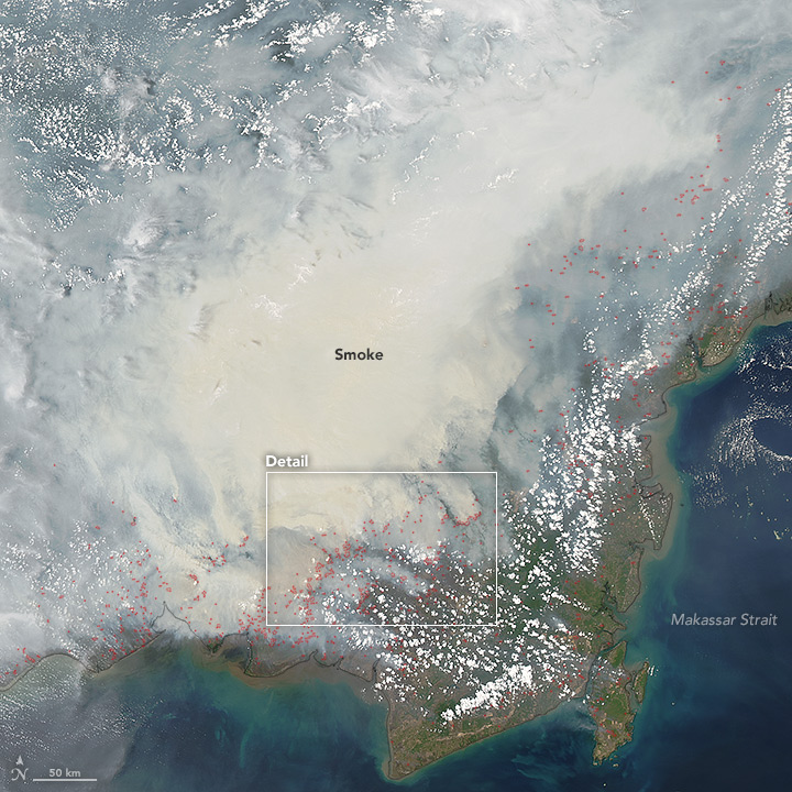 MODIS Aqua acquired on October 19, 2015